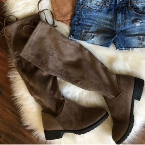 Knee High Boho Suede Boots